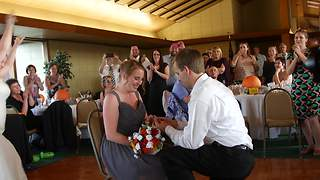 Bridesmaid Gets Surprise Proposal At Friend's Wedding - Video