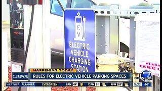 Rules for electric vehicle parking spaces