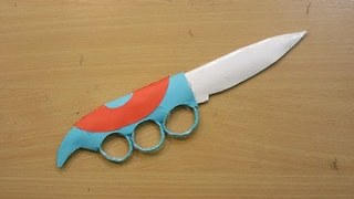 How to make a paper knuckle knife - how made toy for kids - kid toys  - Video