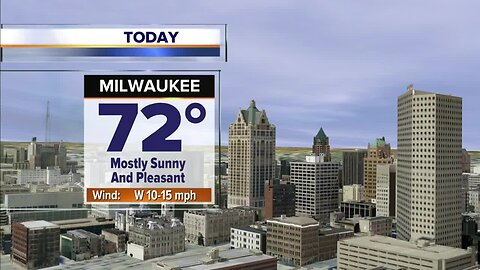 Mostly sunny, breezy, and warm Thursday