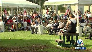 Veterans Day ceremony held in North Palm Beach - Video