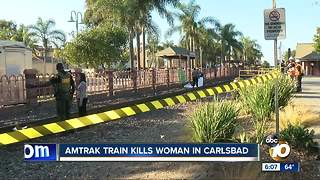 Amtrak train kills woman in Carlsbad - Video