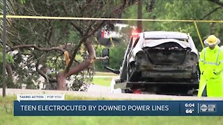 Hernando County teen electrocuted by downed power lines during severe thunderstorms Sunday