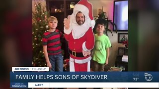 Skydiver's family creates Gofundme for sons