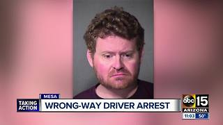 Troopers arrest alleged wrong-way driver in Gilbert - Video