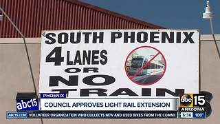 Phoenix City Council votes to continue light rail extension