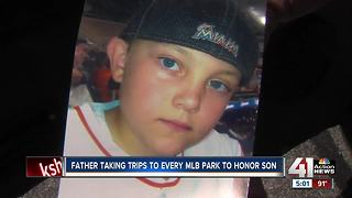 Father taking trips to every MLB park to honor son