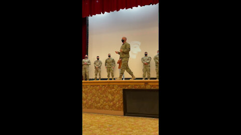 1st Armored Division Command Sgt. Maj Williams Speaking