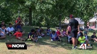 Summer camp getting kids up and moving - Video