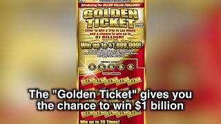 Win up to $1 billion with Michigan Lottery's new Golden Ticket - Video