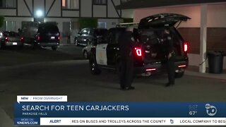 Search for teen carjackers