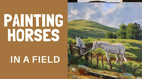 PAINTING HORSES in a field