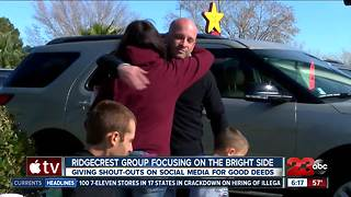 Ridgecrest group focuses on the bright side - Video