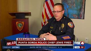 Punta Gorda police chief Lewis fired