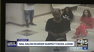 Nail salon murder suspect appears in court