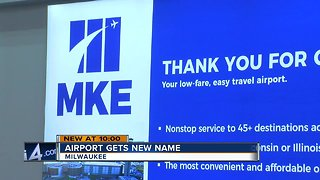 Milwaukee airport quietly changes its name