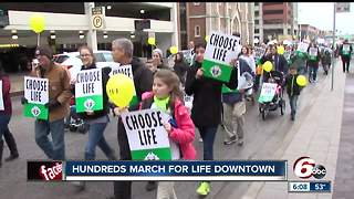 Hundreds gather to March for Life in Indianapolis - Video