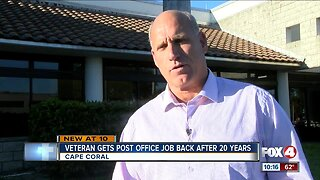 Veteran gets post office job back after 20 years