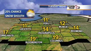 Cold temps and snow chances ahead. - Video