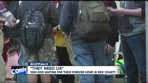 """""""They need us."""" 1,000 kids waiting for their forever home in Erie County"""