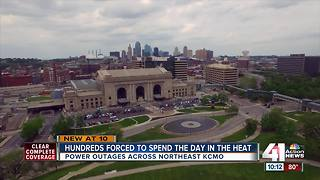 Hundreds without power amid scorching-temps - Video