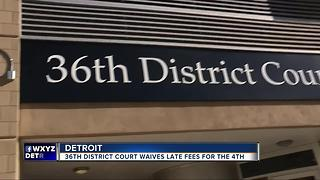 Detroit court waives fees for