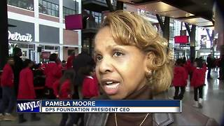Red Wings invite 300 Detroit Public Schools students to practice for STEM program - Video