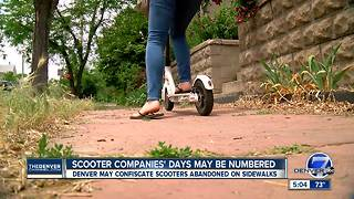 Denver tells electric scooter companies they can't operate in city - Video