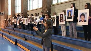 Carmel High School students protest gun violence in walkout - Video