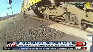 Caught on Video: Lodi officer saves man from train tracks