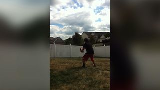 Boy Makes An Epic Football Catch - Video
