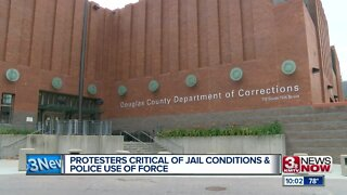 Protesters critical of jail conditions & police use of force