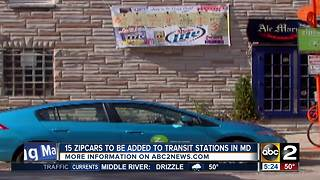 More Zipcars to be added to Maryland transit stations - Video