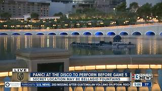 Bellagio Fountain stage possible Panic! at the Disco performance location