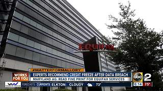 Experts recommend freezing credit following Equifax data breach - Video