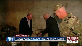 Levees along Arkansas River at risk of failing - Video