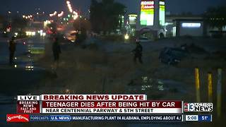 Teenager dies after being hit by car near Centennial Parkway and 5th - Video