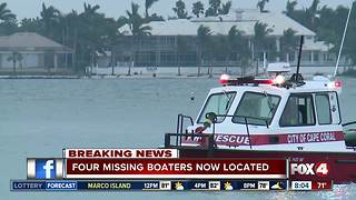 Missing boaters found safe after hours long search