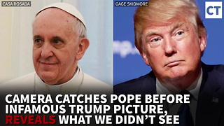 Camera Catches Pope Before Infamous Trump Pic, Reveals What We Didn't See - Video