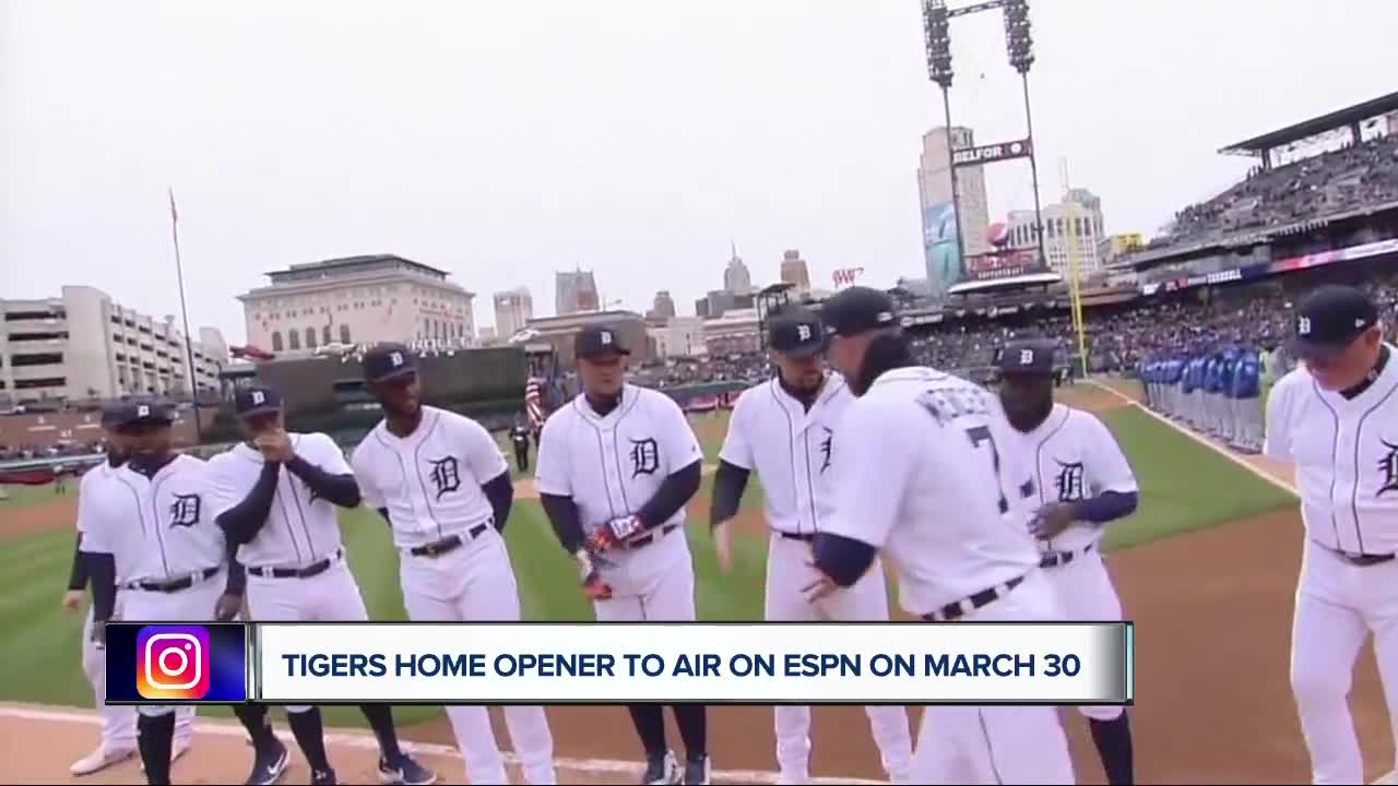 Tigers 2020 home opener to air on ESPN