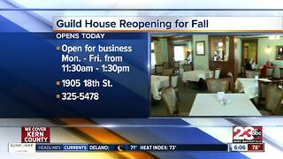 The Guild House Restaurant is reopening for the fall season - Video