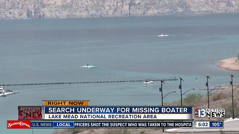 Search underway for missing boater