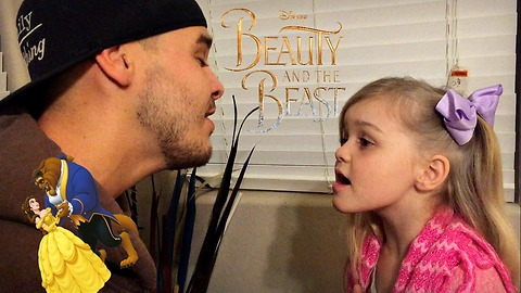 Father & daughter duet sing 'Beauty and the Beast'