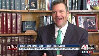 Kobach envisions himself after President Trump