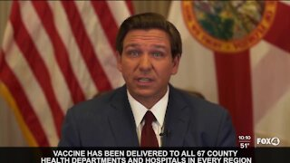 Governor DeSantis issues update on COVID Vaccines
