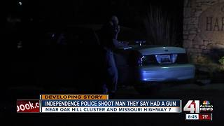 Armed man shot by Independence police