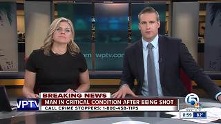 Boynton Beach man critically injured in shooting - Video