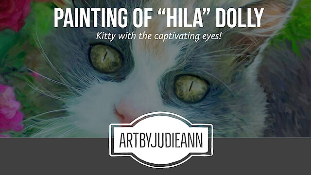 Absolutely stunning digital painting cat portrait