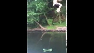 Brutal rope swing fail! || Viral Video UK - Video
