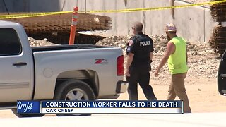 Construction worker falls to his death
